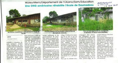 Gabon's national newspaper, February 17, 2015
